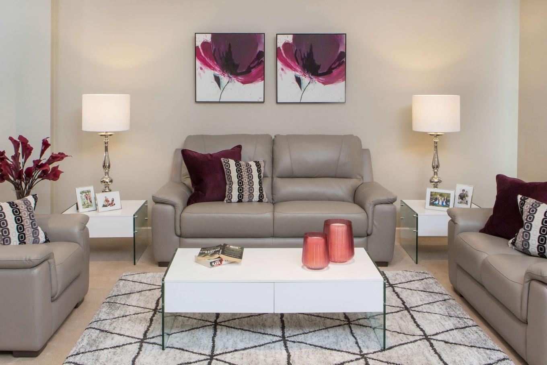 Orion Grey Leather Sofa Lookbook