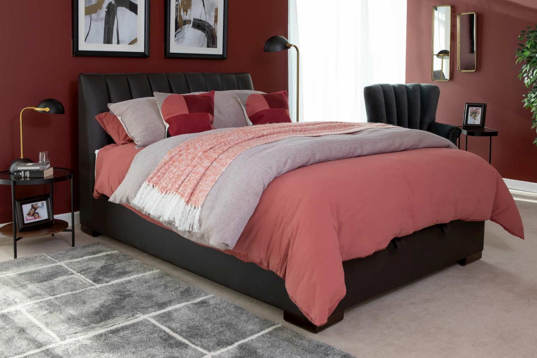 5ft Lancelot Leather Ottoman Bed Lookbook