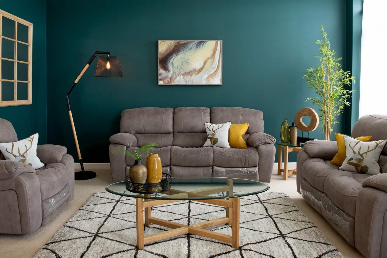 Bradford Suede Reclining Sofa Lookbook