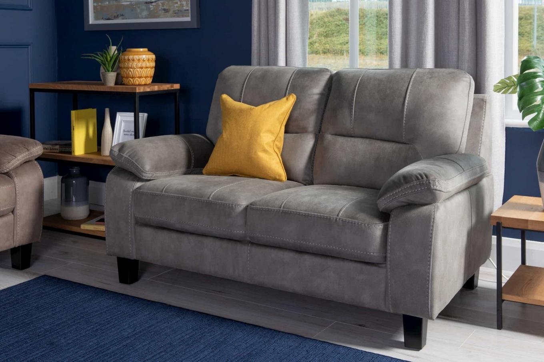 Nikita Grey Faux Suede Sofa Lookbook