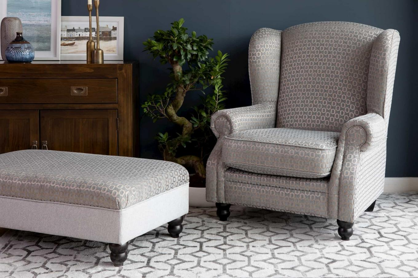 Evelyn Accent Wing Chair & Footstool Lookbook