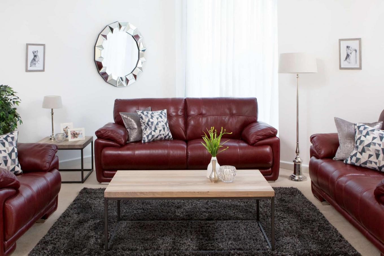 Livorno Red Leather Sofa Lookbook