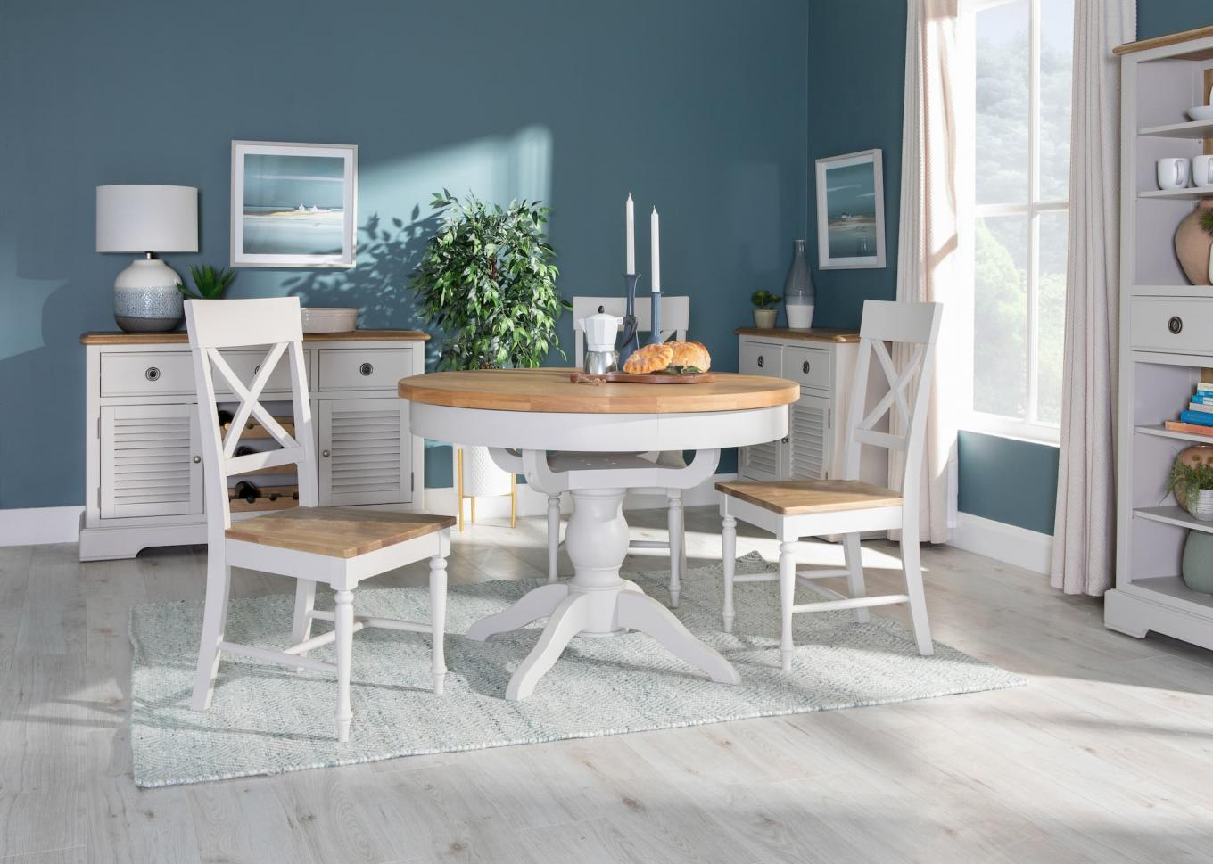 Toulouse Light Grey Wood Chairs with Sideboards Lookbook