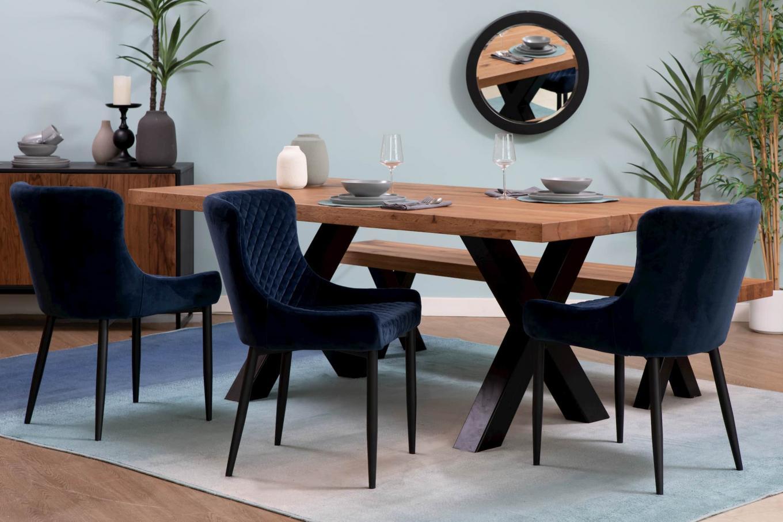 Lucca Dining & Blue Ottowa Chair Lookbook