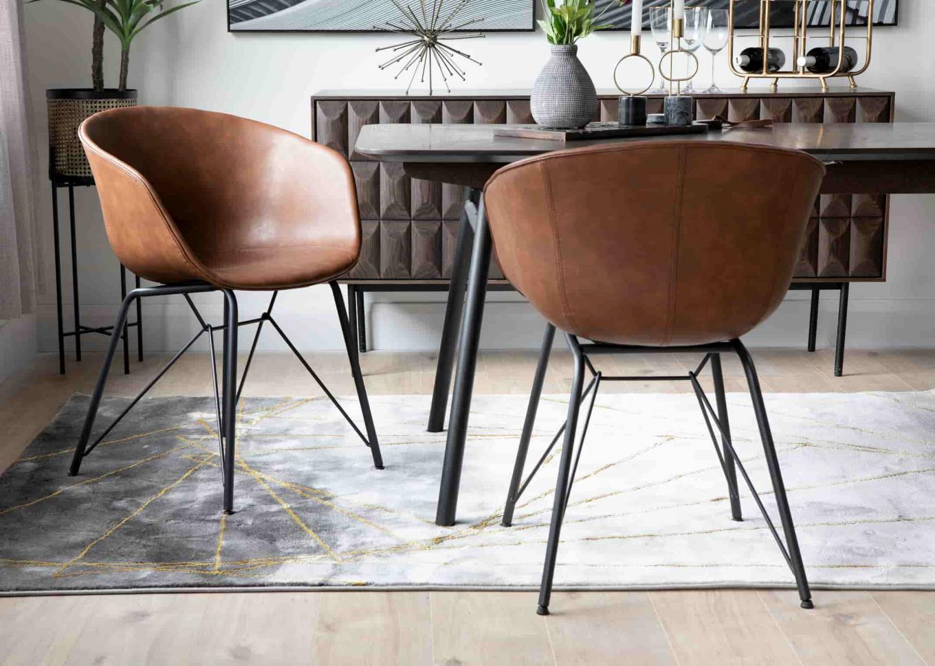 Beck Brown Dining Chairs Lookbook