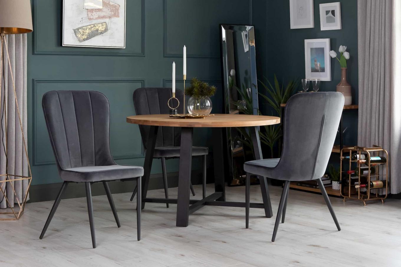 Mila Round Dining & Grey Velvet Heuston Lookbook