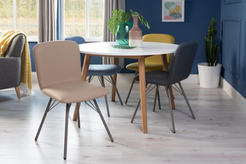Emma Taupe Chair & Tia Lookbook