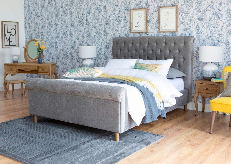 Sofia 5ft Grey Bedframe Lookbook