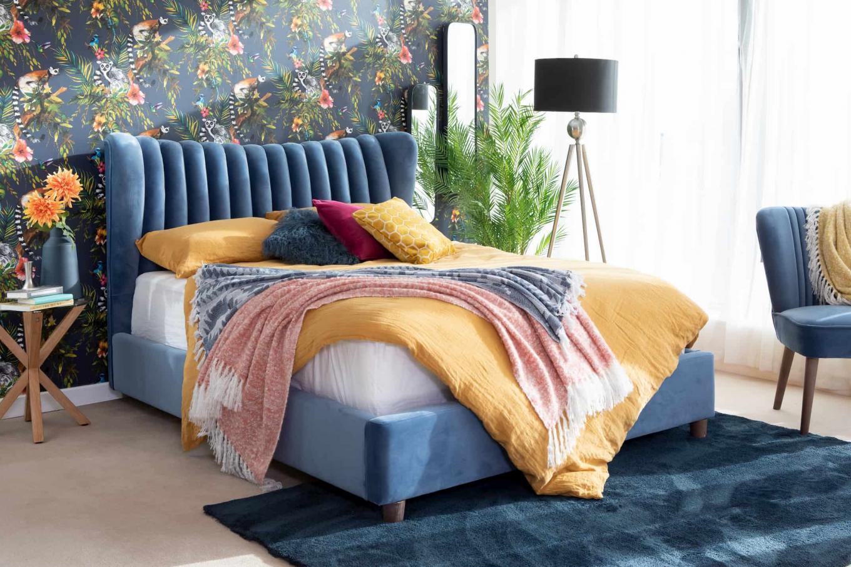 5ft Blue Rosey Bedframe Lookbook