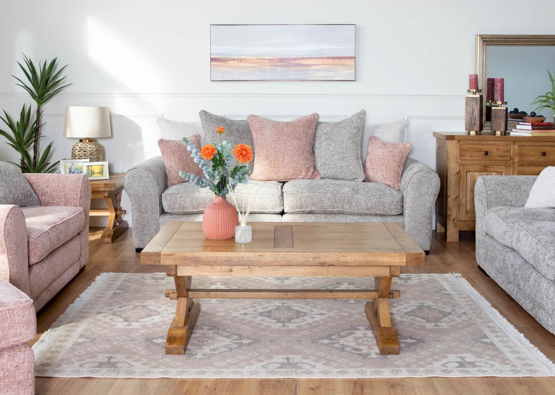 New Kenmare Pink & Grey Sofas Lookbook