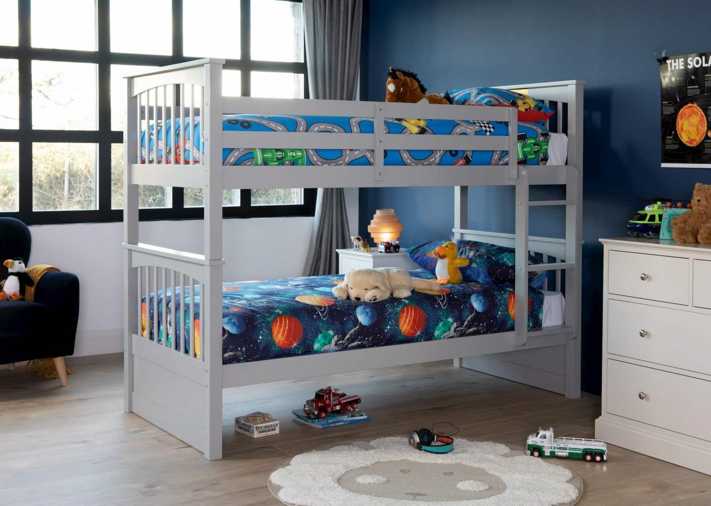 Lara Grey Single Bunk Beds Lookbook