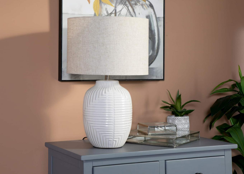 Atlas Grey Chest & Abbey Lamp