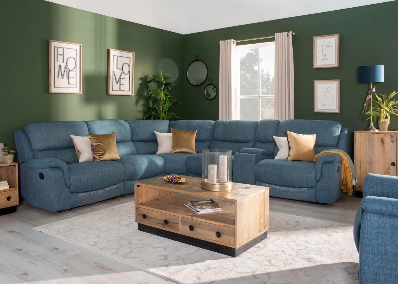 Elm Teal Corner Sofa Lookbook