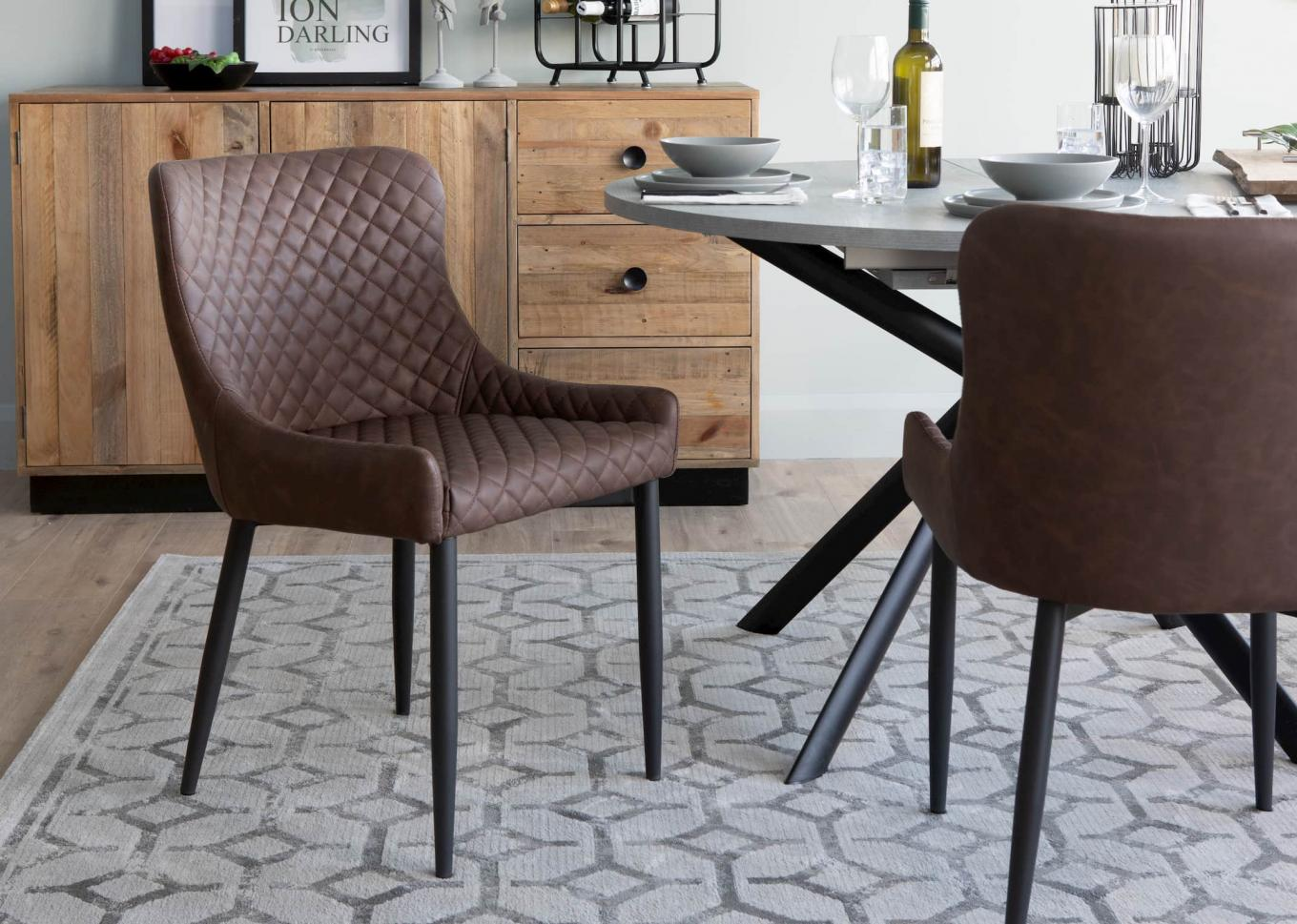 Ottowa Brown Faux Leather Chair Lookbook