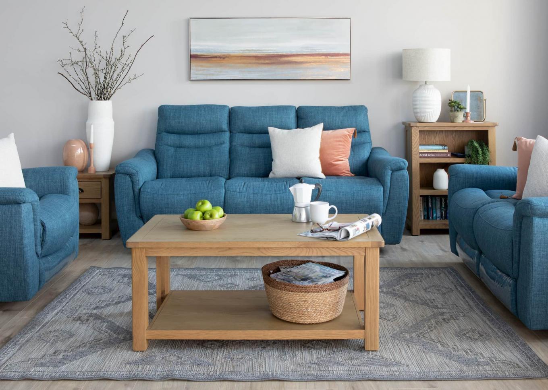 Flair Teal Reclining Sofa & Canterbury Lookbook