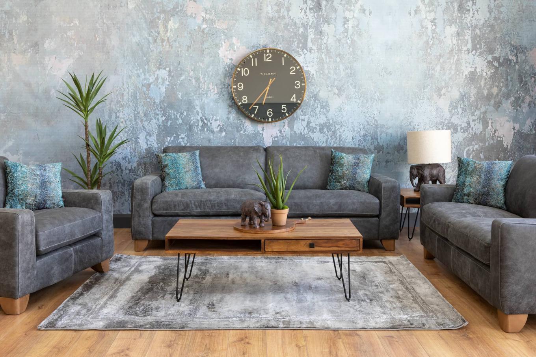 Marco Grey Leather Sofa Lookbook