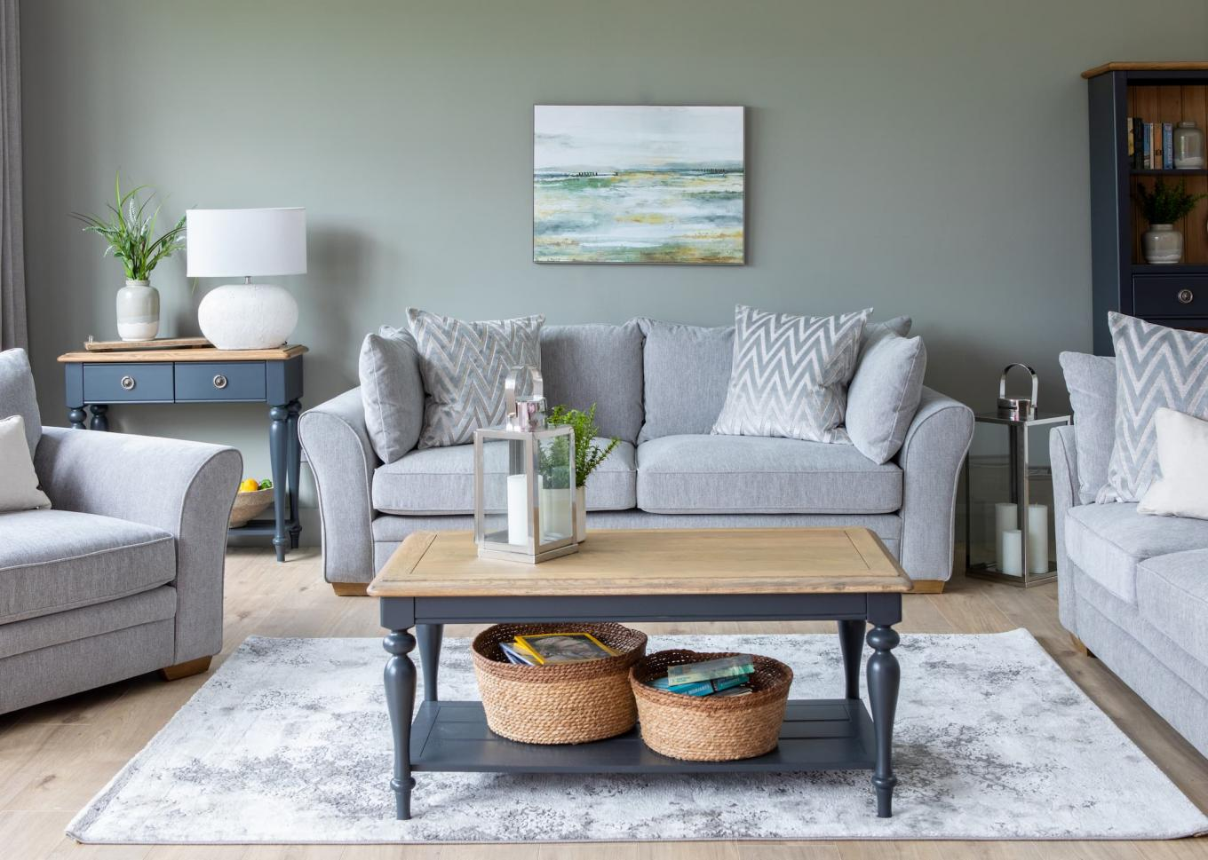 Skyline Sofa Set with Toulouse Charcoal Lookbook