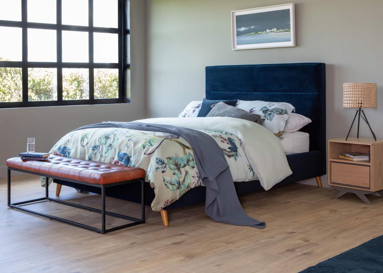Ebony 5ft Blue Velvet Bedframe Lookbook