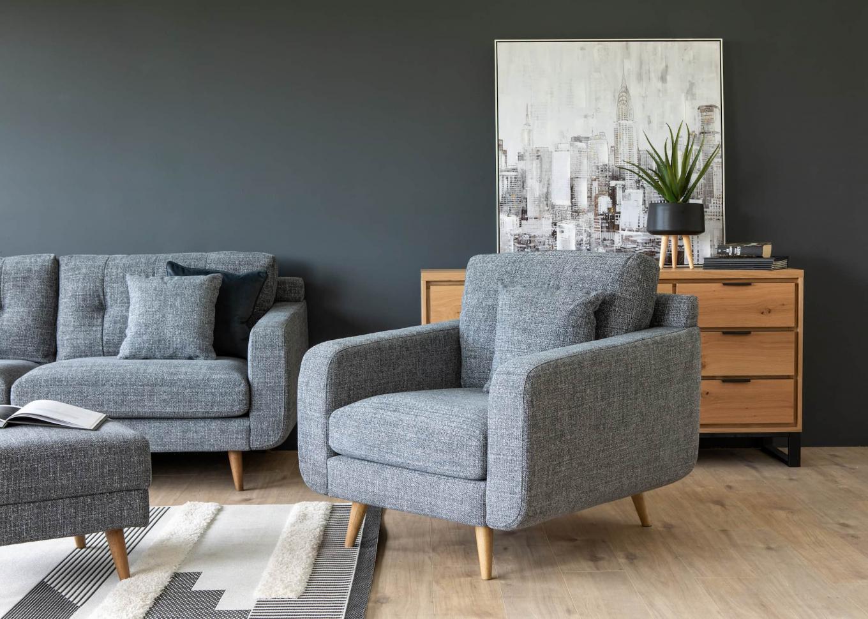 New York Grey Armchair Lookbook