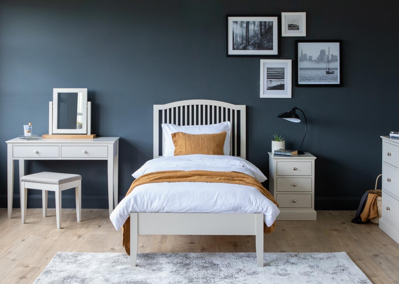 Rivendale Grey Single Bedframe, Chest & Vanity Lookbook