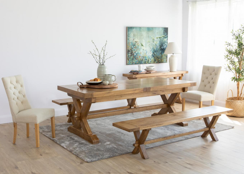 Athens Rectangular Dining Table & Bench Lookbook