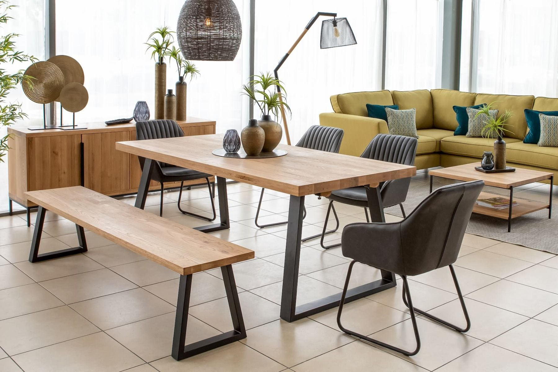 a wooden dining table from ez living furniture