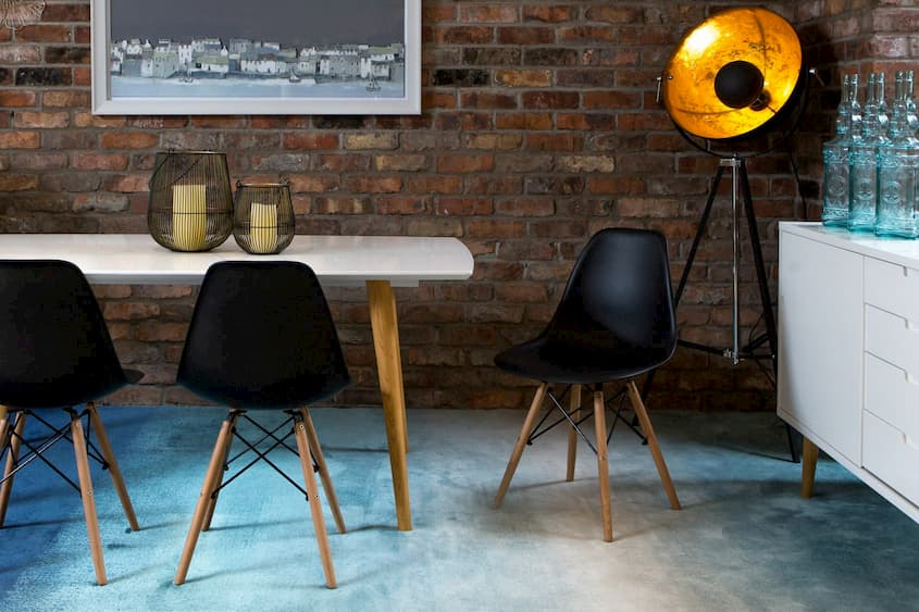 A black kuga dining chair from EZ Living Furniture