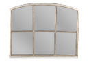 Silver Framed Window Style Sterling Mirror - Chiswich