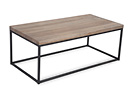 Grey Wooden Top Metallic Framed Coffee Table - Alf