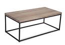 Grey Wooden Top Metallic Framed Coffee Table - Alf