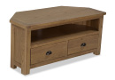 Small Oak Corner TV Unit - Canterbury Oak