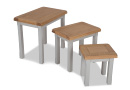 Oak Nest of Three Tables - Hudson
