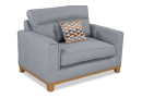 Silver Fabric Foam Cuddler Chair - Carlotta