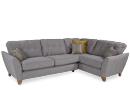 Grey Fabric Corner Chaise Aria