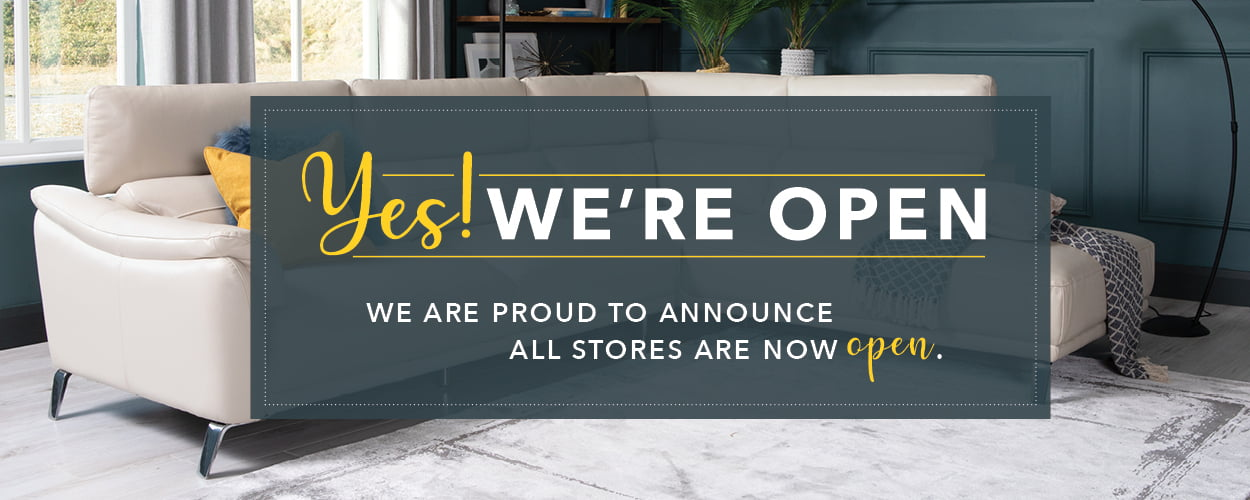 We are proud to announce we are reopening our stores.