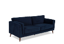 3 Seater Blue Fabric Sofa - Bellini